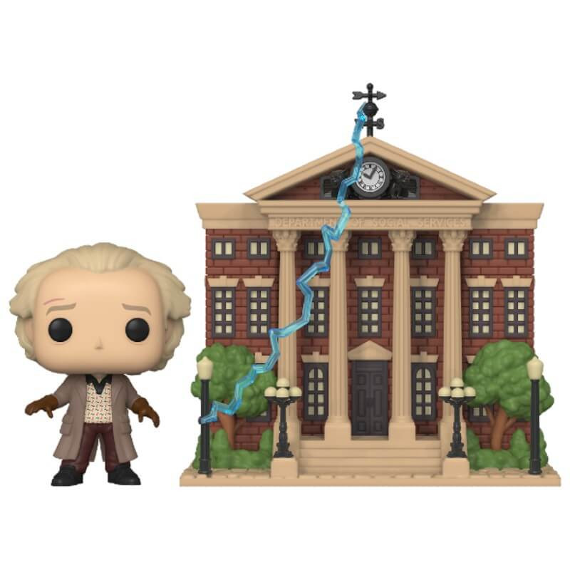 Back to the Future POP! Town Vinyl Figur Doc with Clock Tower